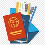Pasaportes tíckets y documentos de viaje.