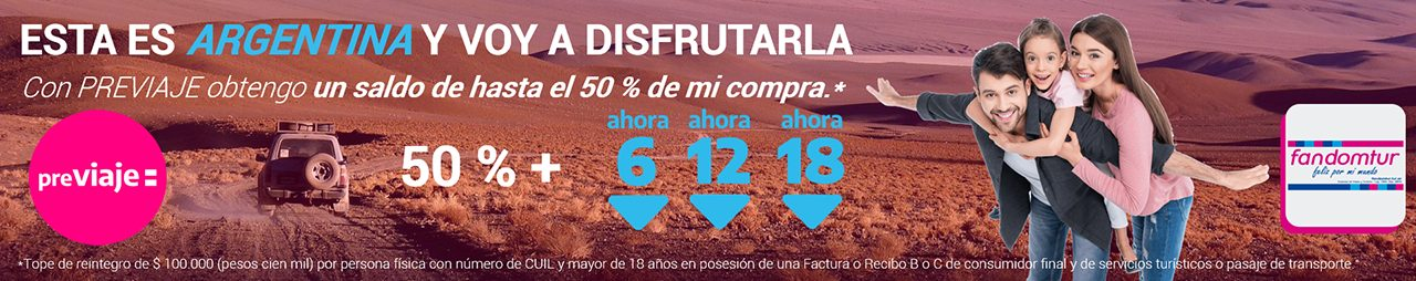 Fandomtur Previaje viajes Argentina Footer Promo.