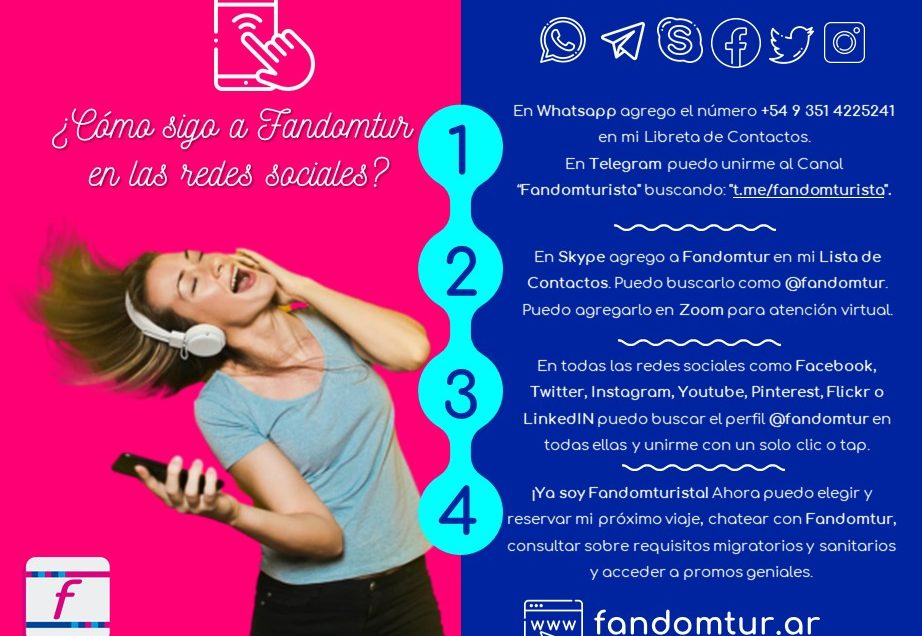 ¿Cómo unirme a Fandomtur en las redes sociales?